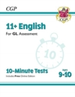 New 11+ GL 10-Minute Tests: English - Ages 9-10 (with Online Edition) - Book