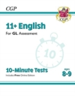 New 11+ GL 10-Minute Tests: English - Ages 8-9 (with Online Edition) - Book