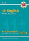 New 11+ GL English Practice Papers - Ages 10-11 (with Parents' Guide & Online Edition) - Book
