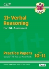 New 11+ GL Verbal Reasoning Practice Papers: Ages 10-11 - Pack 1 (with Parents' Guide & Online Ed) - Book