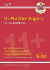 New 11+ CEM Practice Papers - Ages 9-10 (with Parents' Guide & Online Edition) - Book
