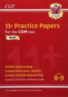 New 11+ CEM Practice Papers - Ages 8-9 (with Parents' Guide & Online Edition) - Book