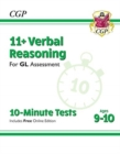 New 11+ GL 10-Minute Tests: Verbal Reasoning - Ages 9-10 (with Online Edition) - Book