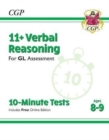 New 11+ GL 10-Minute Tests: Verbal Reasoning - Ages 8-9 (with Online Edition) - Book