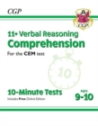 New 11+ CEM 10-Minute Tests: Comprehension - Ages 9-10 (with Online Edition) - Book