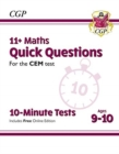 New 11+ CEM 10-Minute Tests: Maths Quick Questions - Ages 9-10 (with Online Edition) - Book