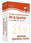 New 11+ CEM Revision Question Cards: Non-Verbal Reasoning 3D & Spatial - Ages 10-11 - Book