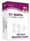 New 11+ CEM Revision Question Cards: Maths - Ages 9-10 - Book