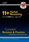 New 11+ CEM Verbal Reasoning Complete Revision and Practice - Ages 10-11 (with Online Edition) - Book