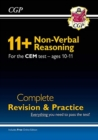 New 11+ CEM Non-Verbal Reasoning Complete Revision and Practice - Ages 10-11 (with Online Edition) - Book