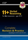 New 11+ GL Verbal Reasoning Complete Revision and Practice - Ages 10-11 (with Online Edition) - Book