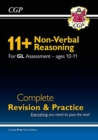 New 11+ GL Non-Verbal Reasoning Complete Revision and Practice - Ages 10-11 (with Online Edition) - Book