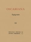 Oscariana : Epigrams - Book