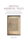Editing Medieval Texts - Book