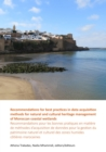 Recommendations for best practices in data acquisition methods for natural and cultural heritage management of Moroccan coastal wetlands : Recommandations pour les bonnes pratiques en matiere de metho - Book