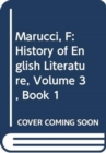 History of English Literature, Volume 3, Book 1 : From the Metaphysicals to the Romantics - Book