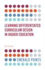 Learning Differentiated Curriculum Design in Higher Education - Book