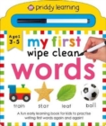 My First Wipe Clean Words - Book