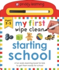 My First Wipe Clean Starting School - Book