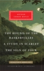 The Hound of the Baskervilles, A Study in Scarlet, The Sign of Four - Book