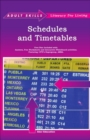 Schedules and Timetables - Book
