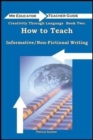 Creativity Through Language : How to Teach Non-Fictional/Informative Writing - Book