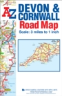 Devon & Cornwall Road Map - Book