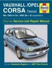 Vauxhall/Opel Corsa Diesel (Mar 93 - Oct 00) K To X - Book