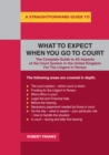 A Straightforward Guide To What To Expect When You Go To Court : Revised Edition - eBook