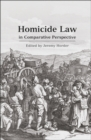 Homicide Law in Comparative Perspective - eBook