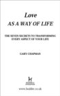 Love As A Way of Life - eBook