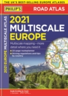 2021 Philip's Multiscale Road Atlas Europe : (A4 Flexiback) - Book