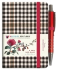 A Red, Red Rose Tartan Notebook (mini with pen) (Burns check tartan) - Book