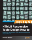 Instant HTML5 Responsive Table Design How-to - eBook