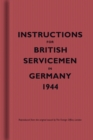 Instructions for British Servicemen in Germany, 1944 - Book