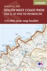 South West Coast Path Map Booklet - Vol 2: St Ives to Plymouth : 1:25,000 OS Route Mapping - Book