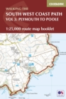 South West Coast Path Map Booklet - Vol 3: Plymouth to Poole : 1:25,000 OS Route Mapping - Book