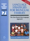 Language Strategies for Bilingual Families : The one-parent-one-language Approach - Book