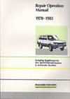 Range Rover Repair Operation Manual 1970-1985 - Book