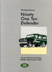 Land Rover 90 and 110 (Plus Defender Supplements) Workshop Manual - Book