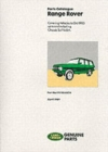Range Rover 1970-85 Parts Catalogue - Book
