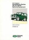 Land Rover Series IIA, III and 109V8 Optional Equipment - Book