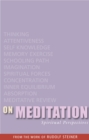 On Meditation : Spiritual Perspectives - eBook