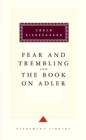 The Fear And Trembling And The Book On Adler - Book