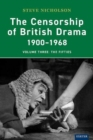 The Censorship of British Drama 1900-1968 Volume 3 : The Fifties - Book