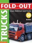 Fold-Out Poster Sticker Book: Trucks - Book