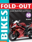 Fold-Out Poster Sticker Book: Bikes - Book