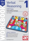 11+ Verbal Reasoning Year 3/4 CEM Style Workbook 1 : Verbal Ability Technique - Book
