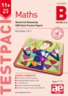 11+ Maths Year 5-7 Testpack B Papers 5-8 : Numerical Reasoning CEM Style Practice Papers - Book