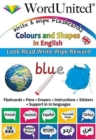 Colours and Shapes in English : Write & Wipe Flashcards - Book